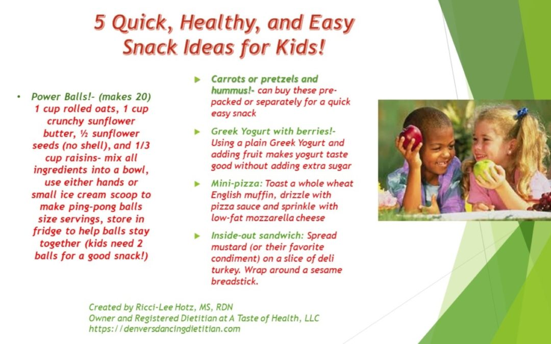 5 Quick, Healthy, and Easy Snack Ideas for Kids (and Young at Heart Adults)