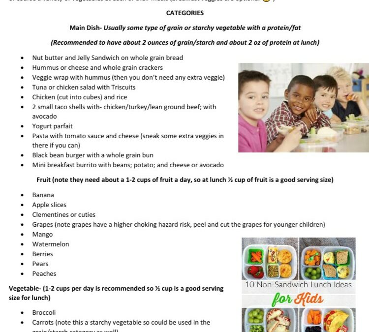 Tasty and Healthy Breakfast and School Lunch Ideas and Creating a Healthy Relationship with Food for Your Child
