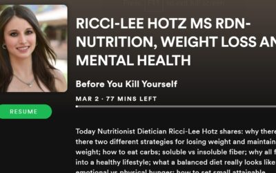"Ricci-Lee Hotz, MS, RDN Nutrition and Health Interview on ""Before You Kill Yourself"" Mental Health Podcast by Leo Flowers"